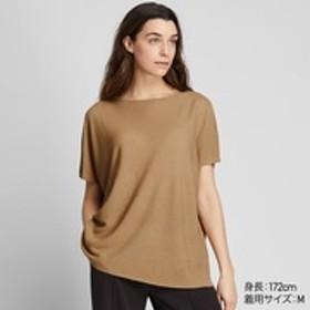 オーバーサイズラウンドネックセーター(半袖)