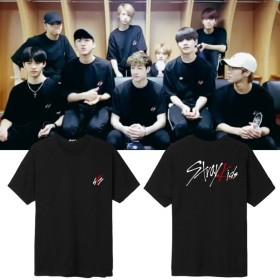大人気! Stray Kidsコンサート 同じデザイン 半袖Tシャツ 韓国ファッション Tシャツ 男女兼用 トップス 韓国