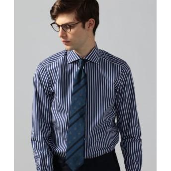 (TOMORROWLAND/トゥモローランド)120/2コットンブロード ワイドカラー ドレスシャツ NEW WIDE-5/メンズ 68ネイビー系 送料無料