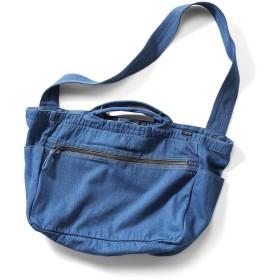 クラソ Kraso 古着屋さんで見つけたようなデニムショルダーバッグ (インディゴブルー)