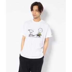 ビーバー MANASTASH/マナスタッシュ 別注Movie Tee Peanuts slacker Tシャツ メンズ WHITE XL 【BEAVER】