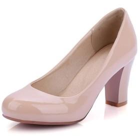 20.5cm~28.5cm パンプス 結婚式 レディース 靴 シューズ 美脚パンプス パンプス 太ヒール 大きいサイズ ウェディング靴 ハイヒール パンプス レディース 大きいサイズ 小さいサイズ 黒ベージュ 赤 白 発表会 2次会 通勤 フォーマルシューズ (28.5, ベージュ)