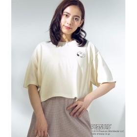 WEGO WEGO/PEANUTS別注ワンポイントTシャツ(ホワイト系)【返品不可商品】