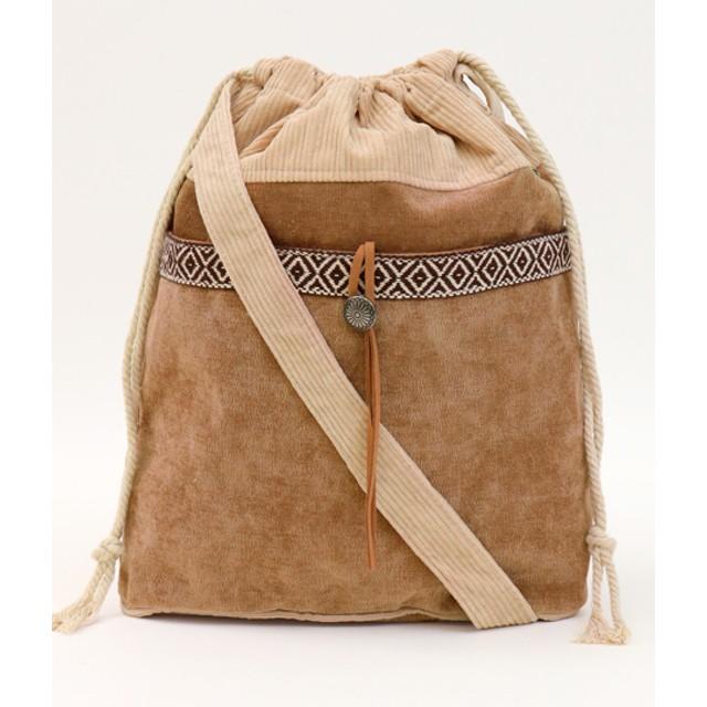 ショルダーバッグ - ANAP コンチョ付巾着バッグ