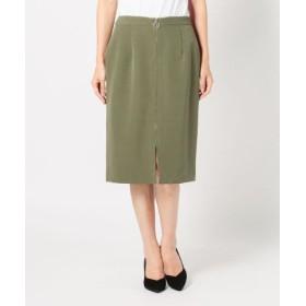 (MEW'S REFINED CLOTHES/ミューズ リファインド クローズ)ジップタイトスカート/レディース カーキ