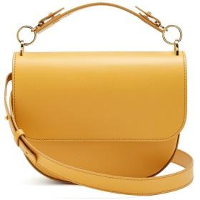 (ソフィーヒュルム) The Bow saddle-leather cross-body bag ボウサドルレザークロスボディバッグ Mustard-yellow (並行輸入品)
