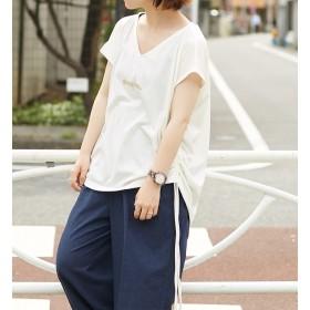 【アルカリ/alcali】 【WEB限定】alcali/サイドギャザーデザインTシャツ