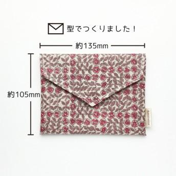 風景印帳ケース:リバティ_花赤