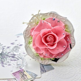 【日比谷花壇】プリザーブドアレンジメント ジュエルローズ「オパール」