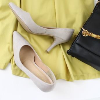 パンプス - AmiAmi 低反発インソール!美脚8.5cmヒールポインテッドトゥパンプスレディース靴 ヒール プレーン スエードエナメル痛くないベーシックエナメル ヌバック SSSサイズ シューズ 靴
