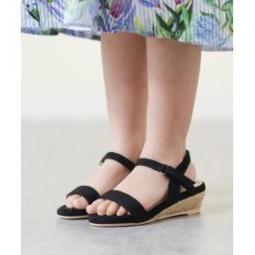 サンダル - Outletshoes 送料無料 マジックテープ付き ストラップ 2cmヒール ジュート巻きヒール キッズサンダル ヒール2cm キッズ 女の子 かわいい靴子供用