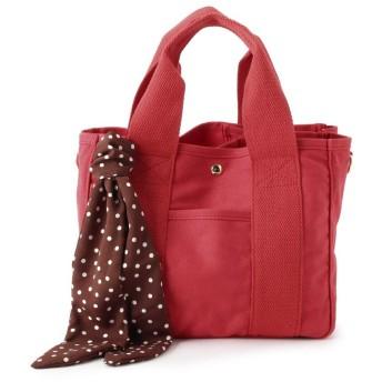 トートバッグ - pink adobe 2WAYスカーフ付き ミニトートバッグ