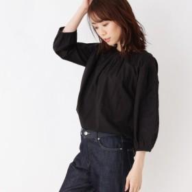 [マルイ]【セール】【洗える】エンブロイダリースリーブシャツ/オペークドットクリップ(OPAQUE. CLIP)