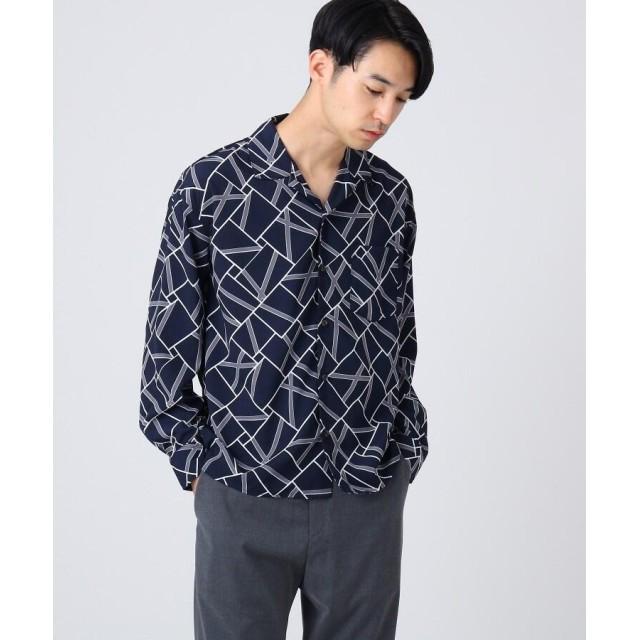 tk.TAKEO KIKUCHI(ティーケー タケオ キクチ) ◆ジオメトリック開襟シャツ