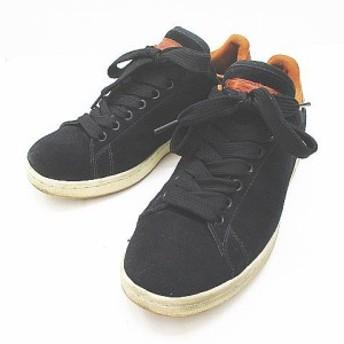 【中古】アディダスオリジナルス adidas originals G50868 スタンスミス スニーカー 26.0 ブラック 黒 スエード