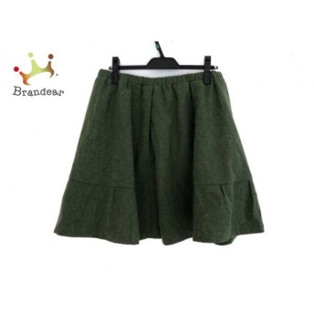 ホコモモラ スカート サイズ48 XL レディース グリーン×オレンジ×マルチ ウエストゴム 新着 20190722