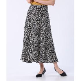 【PLST】フラワープリントナロースカート