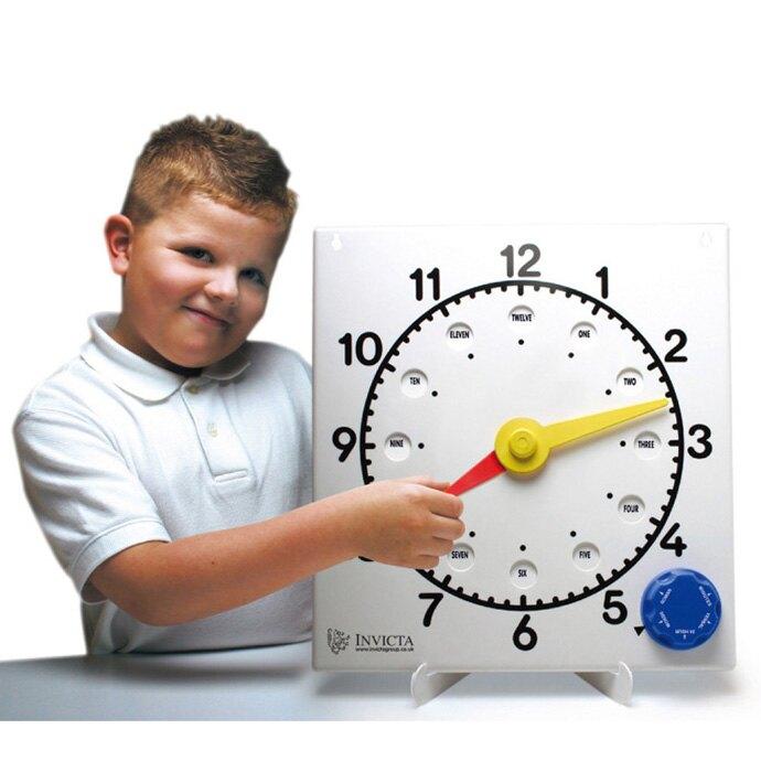 【華森葳兒童教玩具】數學教具系列-教學時鐘 N4-091759