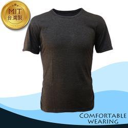 涼感吸排圓領短衫-黑色