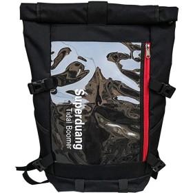 PURETINN リュック 多機能大きめメンズリュック アウトドアリュックサック PC収納可 旅行、登山、キャンプ 大容量防災袋 (ブラック)