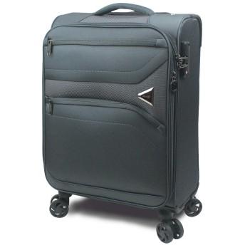 【SUCCESS サクセス】 スーツケース キャリーケース 3サイズ( 大型Lサイズ・中型Mサイズ・小型Sサイズ ) TSAロック 超軽量ソフトケース ソフィアライト (小型 Sサイズ 57cm, グレー)
