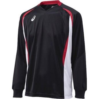 アシックス ASICS バレーボール用 ゲームシャツLS XW1326 [カラー:ブラック×ホワイト] [サイズ:S] #XW1326