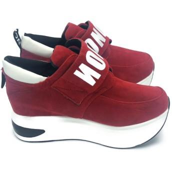 スニーカー - Miniministore マジックテープ スニーカー レディース 厚底 ランニング シューズ 歩きやすい靴