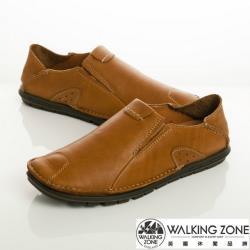 WALKING ZONE 英倫真皮自然風格開車鞋男鞋-棕(另有咖、棕)
