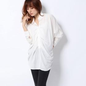 エゴイスト EGOIST レーヨンタックロングシャツ (WHITE)
