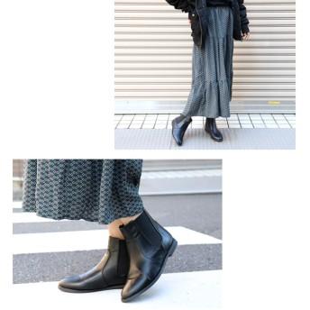 ブーツ - NOFALL 低反発インソール入りで歩きやすい♪フラットソールサイドゴアショートブーツ レディース ブーツ ショートブーツ サイドゴア スムース ダークブラウン ブラック ノーフォール NOFALL SANGO nofall sango サンゴ
