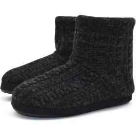 [KOI] コイ ルームシューズ メンズ あったかい ボア ブーツ スリッパ 履きやすい 丸洗いOK 自宅/会社用