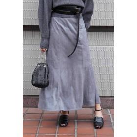 【公式/フリーズマート】フェイクスウェードマーメイドロングスカート/女性/スカート/サックス/サイズ:S/(表生地)ポリエステル 100%(裏生地)ポリエステル 80% コットン 20%