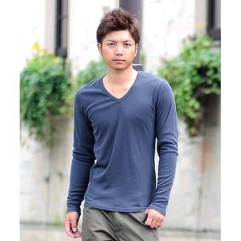 (SPADE/スペイド)Tシャツ ティーシャツ メンズ 長袖 ロングTシャツ ロンT インナー カットソー おしゃれ 黒 白 ホワイト 無地 プレーン/メンズ チャコールグレー