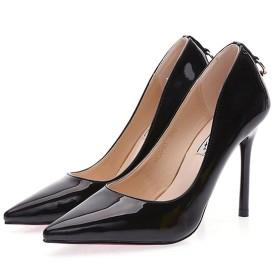 【トブイ】パンプス ハイヒール 黒 パンプス ヒール エナメル 痛くない エナメル パンプス 肌色 レディース ブルー 小さいサイズ 9cm 靴 幅広 甲高 24.5cm 金属9センチ 結婚式 歩きやすい
