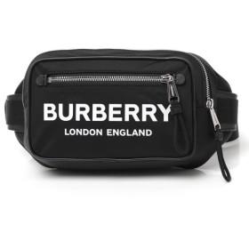バーバリー BURBERRY ボディバッグ LOGO PRINTED NYLON BUM BAG ベルトバッグ ウエストポーチ ブラック メンズ 8014603-black