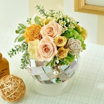 【日比谷花壇】8月のバースストーンプリザーブドアレンジメント「ペリドット」