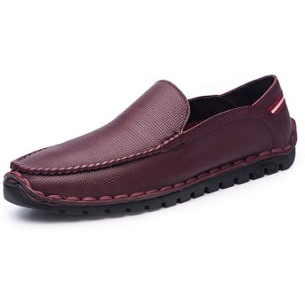 紳士靴 ビジネスシューズ ローファー 革靴 メンズ シューズ 歩きやすい 疲れない ドライビング シューズ 軽量 男性 夏 モカシンシューズ レッド ブラック