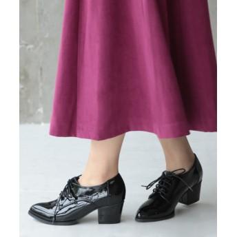 ローファー - SESTO チャンキーヒールのポインテッドトゥレースアップシューズ/マニッシュシューズ 靴 レディース ブーツ ブーティー ショートブーツ黒赤/S22.5cm 3L 25.5cm 小さいサイズ 大きいサイズ/ブラック ボルドー/sesto/セスト