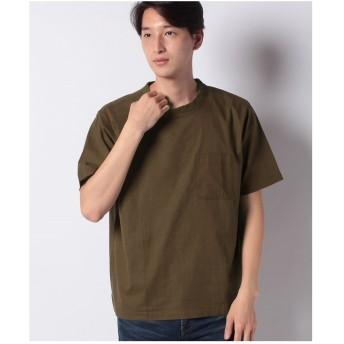 ikka コットンプルオーバーシャツT(ブラウン)【返品不可商品】