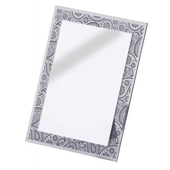 AZUMAYA 卓上ミラー ミラー 鏡 ペイズリー柄 ブラック色 ADP-107636