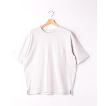 グリーンレーベルリラクシング SC ☆キシリトールCOOL クルー SS Tシャツ <機能性生地> メンズ LTGRAY S 【green label relaxing】