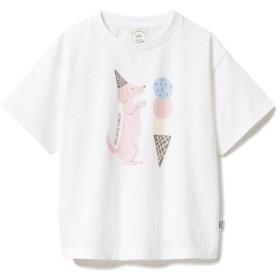 ジェラートピケ アイスクリームアニマルワンポイント kids Tシャツ レディース OWHT S 【gelato pique】