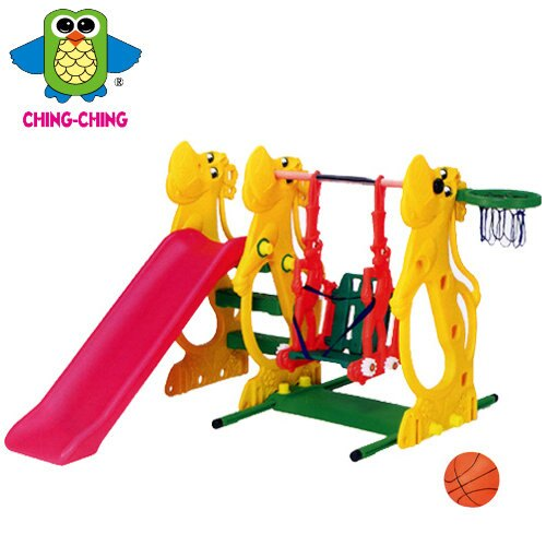 【CHING-CHING親親】河馬溜滑梯+鞦韆『SL-13』【淘氣寶寶】