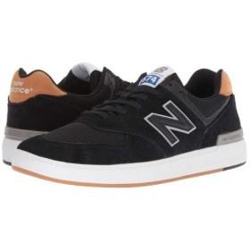 New Balance Numeric(ニューバランス) メンズ 男性用 シューズ 靴 スニーカー 運動靴 AM574 - Black/Brown 8 D - Medium [並行輸入品]