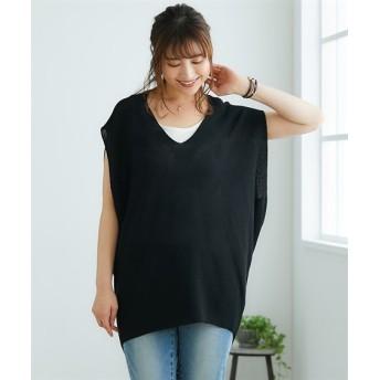 変形プルオーバー【INCEDE】 (大きいサイズレディース)Tシャツ・カットソー