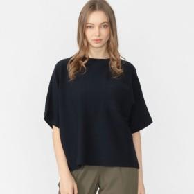 【マッキントッシュ ロンドン ウィメン(MACKINTOSH LONDON WOMEN)】 16GニットポケットTシャツ 16GニットポケットTシャツ ネイビー