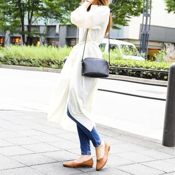 フラットシューズ - Fashion Letter 日本製 スカラップ パンプス ラウンドトゥ パンプス バレーシューズ 靴 ローヒール フラットシューズ バレエシューズコンフォートシューズ 履きやすい 軽い ぺたんこ 旅行 靴 会社 オフィス 立ち仕事 パンプス 疲れない 合皮