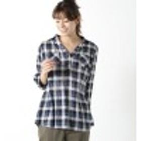 【特別価格】綿混素材のギンガムチェックシャツ【M~3L】