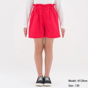 (GU)GIRLSカラーキュロット RED 150