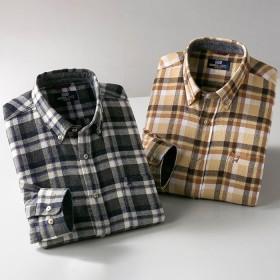 ベルーナ 【2色組】<ミチコ ロンドン ジーンズ>暖か起毛チェック柄シャツ 1 L メンズ